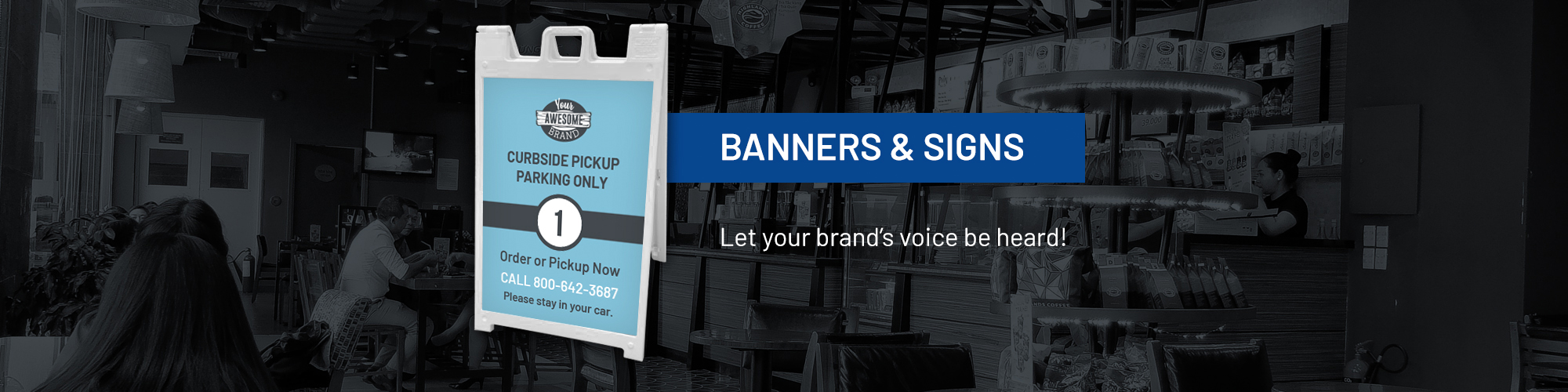 banners & signage print fulfillment program