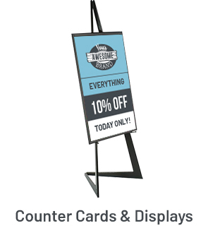 Counter Cards & Displays Example